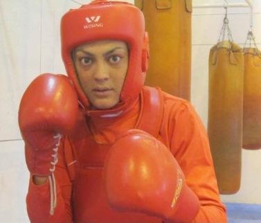 2013 Wushu Championship - Shahrbanu Mansourian - Gold Medalist in women's sanda 75kg category