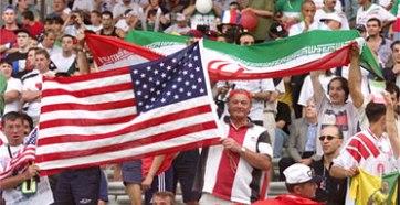 1998 FIFA World Cup - USA-Iran - Fans 1 - Photograph Patrick Kovarik AFP Getty