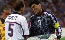 1998 FIFA World Cup - USA-Iran - Pre-Match - Captains shake hands 2