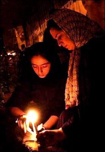 Tehran, Iran - 2001 - Candlelit vigil for 911 victims 10 - time.com - photo by H. Sarbakhshin (AP)