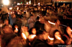 Tehran, Iran - 2001 - Candlelit vigil for 911 victims 17 - Mohsen Sq, Tehran - Tehran24.com - Photo by C. Moghtader