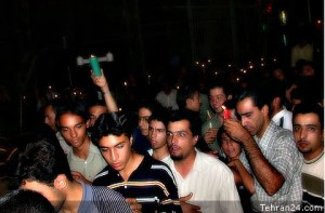 Tehran, Iran - 2001 - Mohsen Sq, Tehran - Candlelit vigil for 911 victims 6 - Tehran24.com - Photo by C. Moghtader