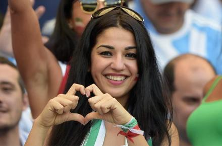 Iranian female fan