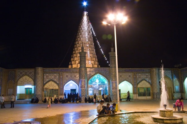 Susa, Iran - Tomb of Daniel at night