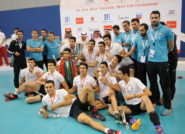 2014 Asian U20 Men Volleyball Championship in Bahrain - Gold Medal Match - Iran 3 - China 0_01