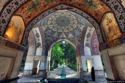 Beautiful ceiling - Fin Garden in Kashan, Iran