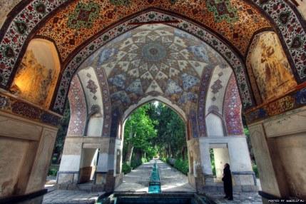 Beautiful ceiling - Fin Garden in Kashan, Iran