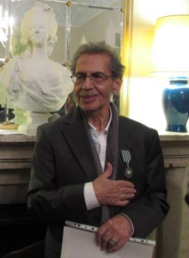 Kambiz Derambakhsh at the French Embassy in Tehran on Sunday, 26th of October 2014