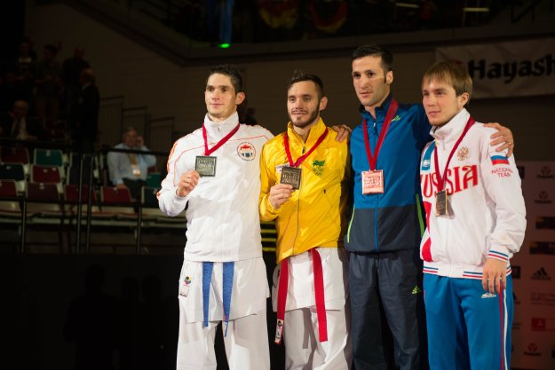 2014 Karate World Championship - Men Kumite -60 Kg 3bronze MAHDI_ZADEH AMIR