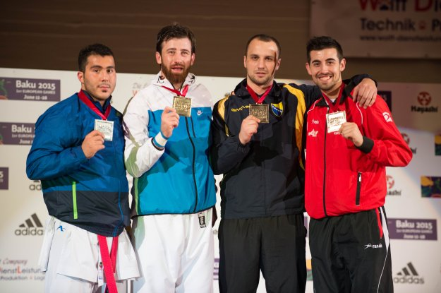 2014 Karate World Championship - Male Kumite +84 Kg 2sivler GANJZADEH SAJAD