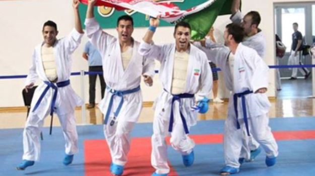 2014 Karate World Championship - Men Kumite Team - Gold Medal - Iran 01