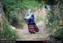 Colorful traditional Gilaki dress