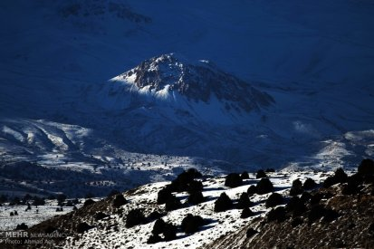 Iran Chahar Bagh Alborz Mountains Snow 9