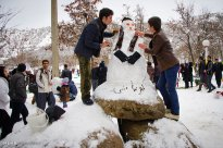 Kurdistan Province, Iran - Marivan, Snowman Festival 01
