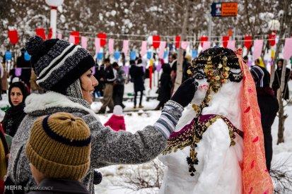 Kurdistan Province, Iran - Marivan, Snowman Festival 02