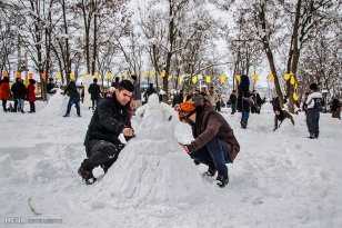 Kurdistan Province, Iran - Marivan, Snowman Festival 06
