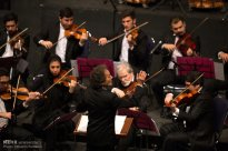 Tehran, Iran - Shahrdad Rohani conducts orchest in Tehran 2015 Jan 17