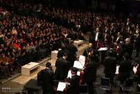 Tehran, Iran - Shahrdad Rohani conducts orchest in Tehran 2015 Jan 18