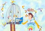 International Environmental Children Drawing Contest - Amir Hussein Kazemi Iran Age 9  - First Prize