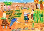 International Environmental Children Drawing Contest - Mohaddeseh Aminian Iran Age 8  - First Prize
