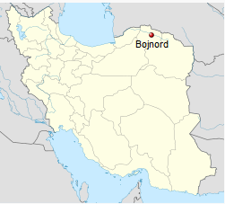 Iran, Bojnord Map