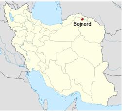 Iran, Bojnord Map