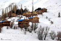 Iran Dizin Ressort in Alborz Mountains Winter Snow 01