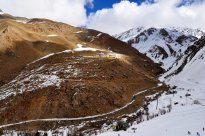 Iran Dizin Ressort in Alborz Mountains Winter Snow 03