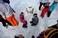Iran Dizin Ressort in Alborz Mountains Winter Snow Snowman 00