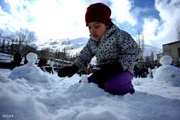 Iran Dizin Ressort in Alborz Mountains Winter Snow Snowman 07