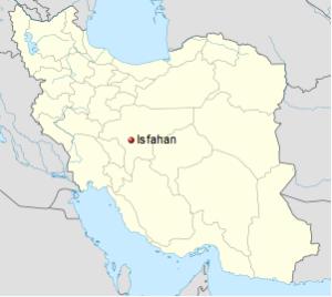 Iran Isfahan Esfahan Map