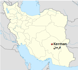 Iran, Kerman map