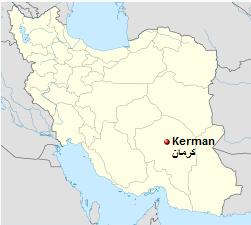 Iran, Kerman map