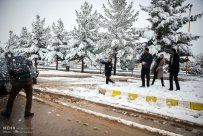 Iran, Kerman Province, Kerman City Winter Snow Snowball 03