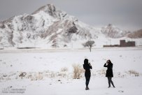 Iran, Kerman Province, Kerman City Winter Snow Snowball 10