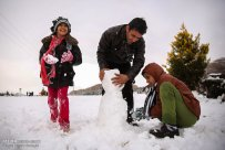 Iran, Kerman Province, Kerman City Winter Snow Snowball 16