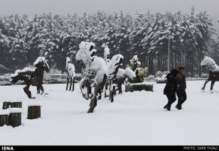 Iran, Kerman Winter Snow 06