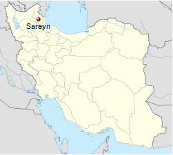 Iran Sareyn Sarein Map