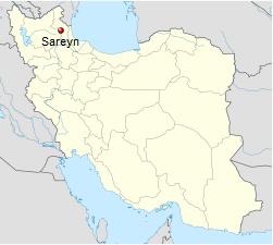 Iran Sareyn Sarein Map
