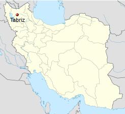 Iran, Tabriz Map