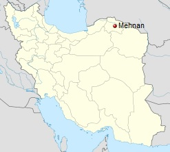 North Khorasan, Iran – Mahnan (Mehnan) Map