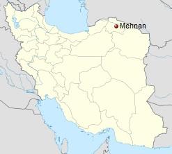 North Khorasan, Iran – Mahnan (Mehnan) Map