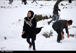 Snow Kerman Iran Snowballs 02