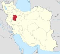 Hamedan Province, Iran - Map