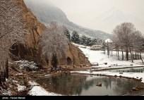 Iran Bisutun Bisotun Snow 00