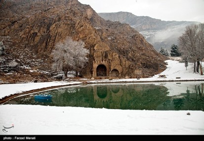 Iran Bisutun Bisotun Snow 06