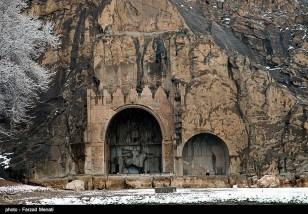 Iran Bisutun Bisotun Snow 08