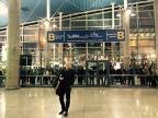 Joja Wendt in airport of Tehran, Iran