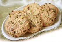 Iran Nowruz New Year Food and Sweets - Nan-e badami (almond cookies)
