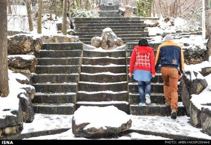 Iran, Tehran from above winter snow 05
